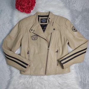 Vintage Jack Daniels Double Rider Moto Jacket